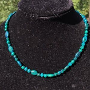 Vintage handcrafted chrysocolla necklace